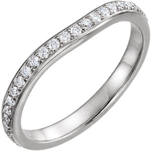 14K White 3/8 CTW Diamond Eternity Band
