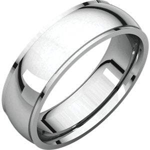 14K White 6mm Comfort Fit Edge Band