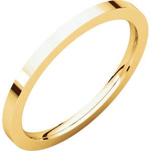 14K Yellow 1.5mm Flat Comfort Fit Band