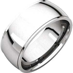 14K White 8mm Comfort Fit Edge Band