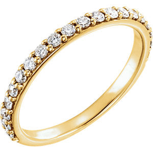 14K Yellow 3/8 CTW Diamond Band