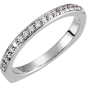 14K White 1/5 CTW Diamond Band