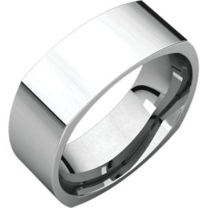 Sterling Silver 10mm Square Comfort Fit Band