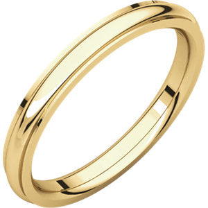 14K Yellow 2.5mm Comfort Fit Edge Band