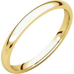 18K Yellow 1.5mm  Lightweight Comfort Fit Band