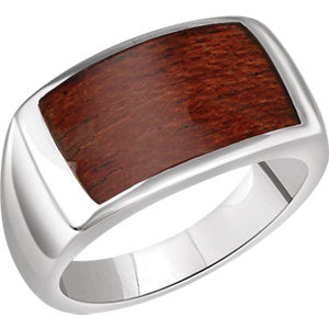 Sterling Silver Men's Rectangle Ring