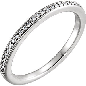 14K White 1/8 CTW Diamond Matching Band