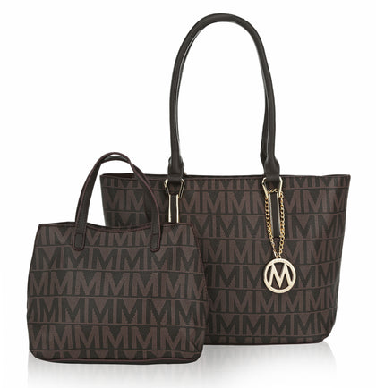 Dalia M Signature 2 Piece Set Tote and Mini Tote
