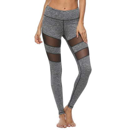 Sexy Mesh Workout Leggings-Gray Regular