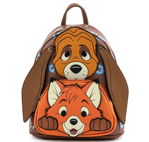 Loungefly Disney Fox and The Hound Todd and Copper Cosplay Mini Backpack