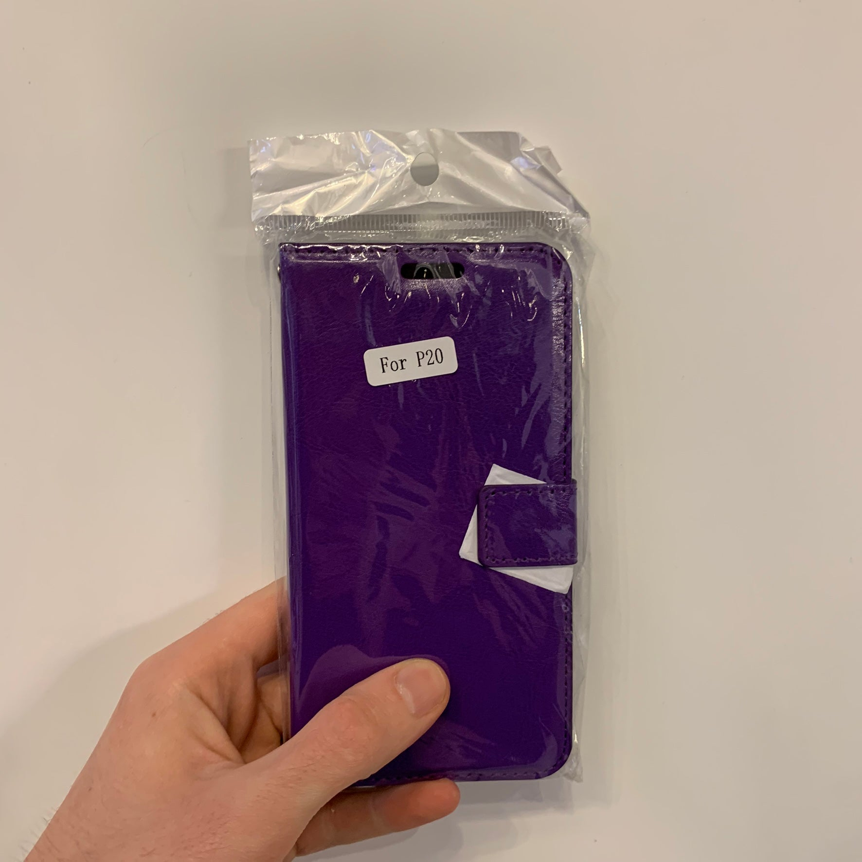 Huawei P20 Purple Wallet Case