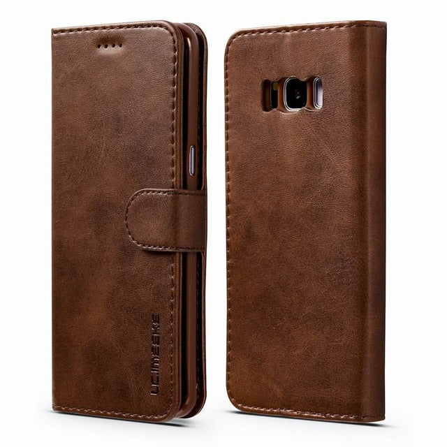 Luxury Leather Flip deksel Samsung s8/S8+
