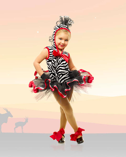 E165 Zebra Mania - Character, Online Dance Costumes