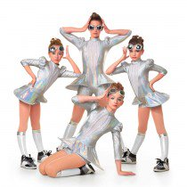 T4944 Metallic Machine - Character, Online Dance Costumes