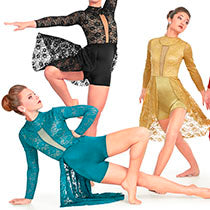 J4982 Care Free - Teal - Contemporary, Online Dance Costumes