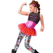 E1422 Graffiti - Jazz, Tap & Hip Hop, Online Dance Costumes
