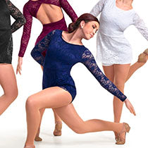 P316 Forever Love (Burgundy only) - Contemporary, Online Dance Costumes
