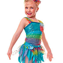 E643 Rainbow - Contemporary, Online Dance Costumes