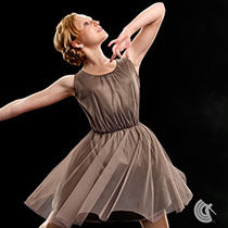 P151 Beneath The Stars - Champagne - Contemporary, Online Dance Costumes