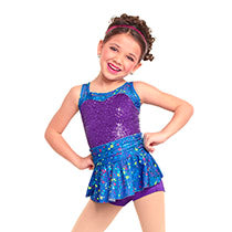 E1296 I Feel Good 2-in-1 (incl Fuchsia Tutu) - Jazz, Tap & Hip Hop, Online Dance Costumes