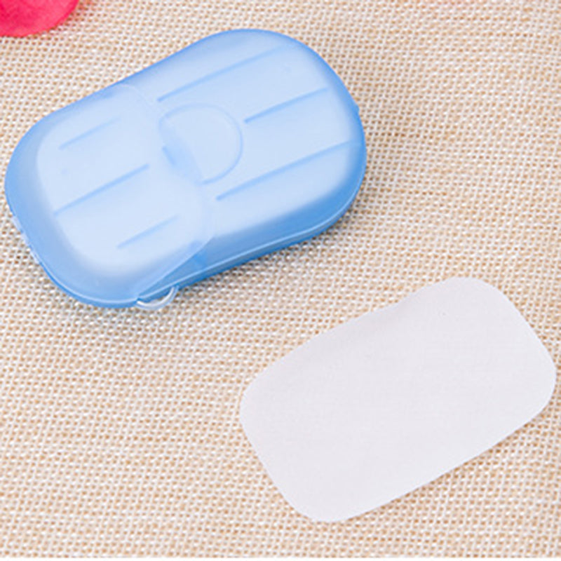 Portable soluble disinfecting soap paper kit