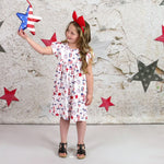 Patriotic Unicorn Milk Silk Flutter Dress