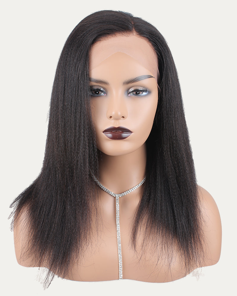 Doris Virgin Human Hair Bob Wig Light Kinky Straight