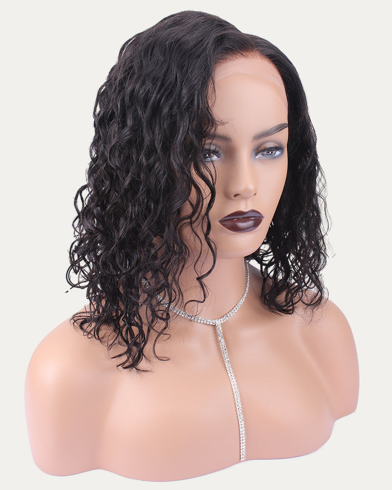 Frieda Lace Front Wig Short Curly Looking Bob Wig Human Hair