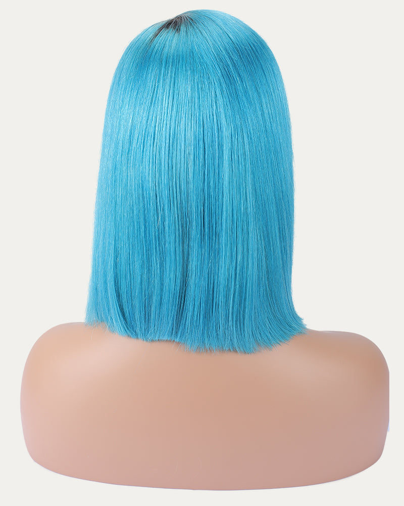 Gilana Blue Celebrity Straight Bob Selected Virgin Human Hair Lace Frontal Wig