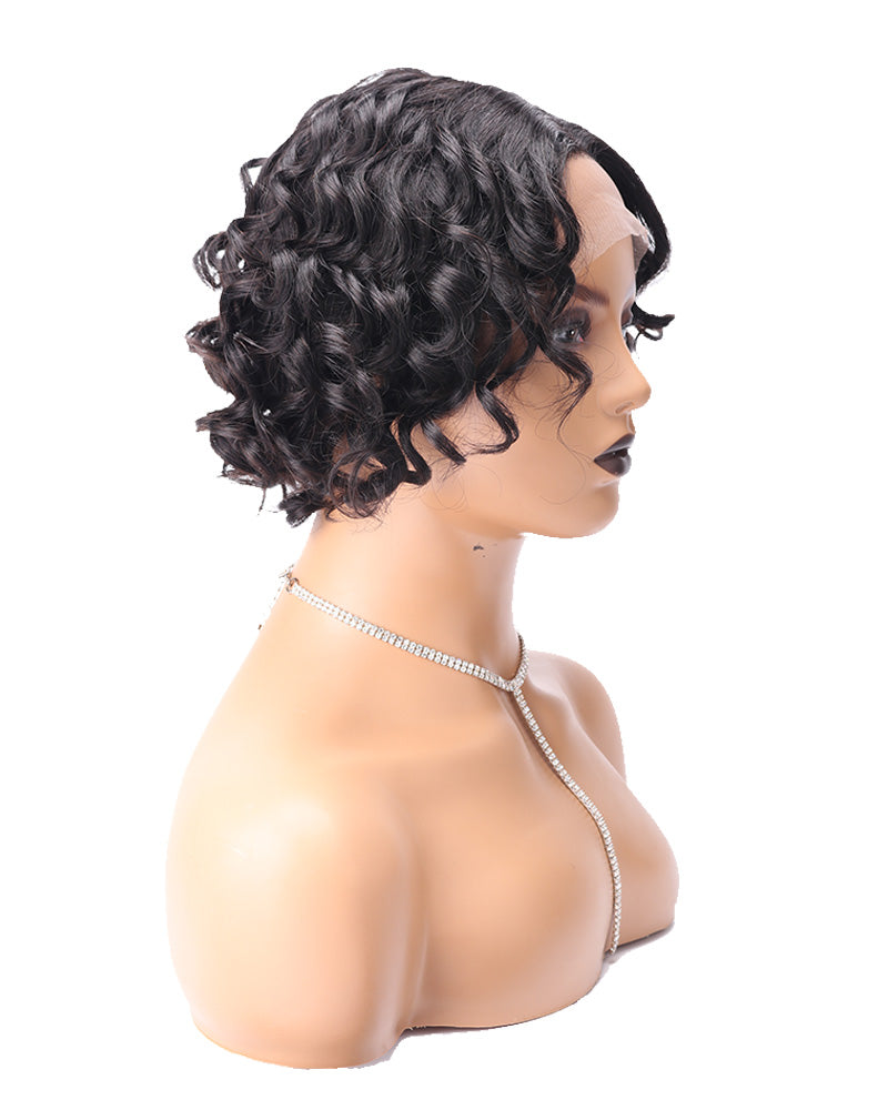 Halima loose curly lace front wig