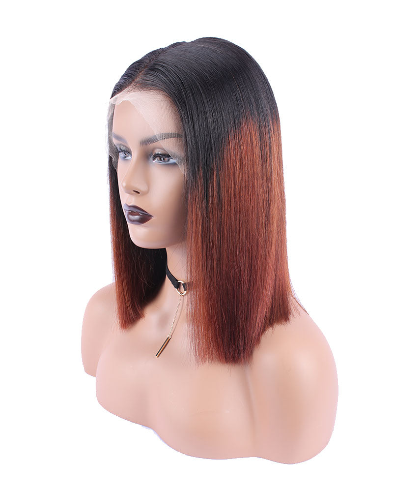 Irma Ombre Color With Dark Root Selected Virgin Human Hair Lace Frontal Wigs