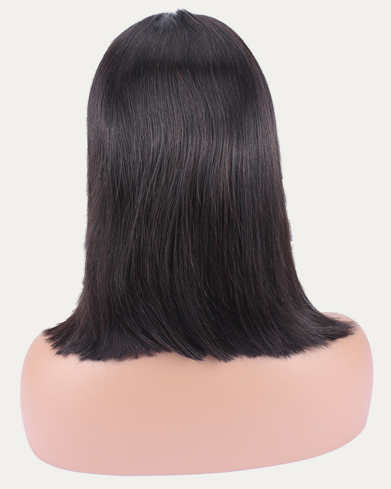 Kitty Middle Part Straight Bob Wig Selected Human Hair Lace Front Wig