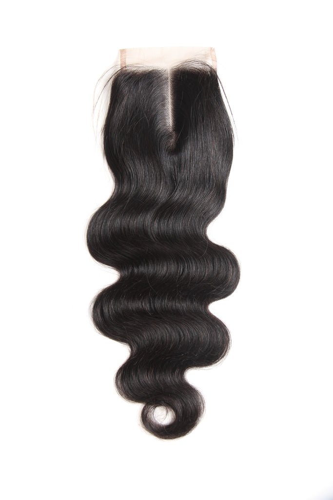 Meralona Hair Brazilian Body Wave Virgin Hair 3 Bundles With Lace Closure