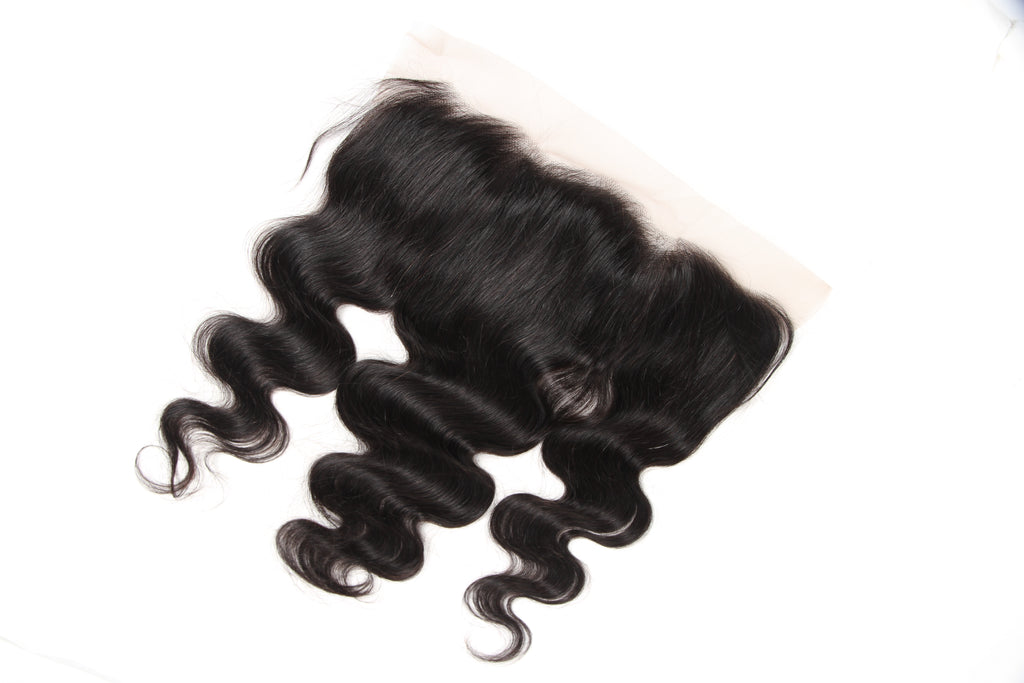 Meralona Hair Brazilian Body Wave Virgin Hair 3 Bundles With Lace Frontal