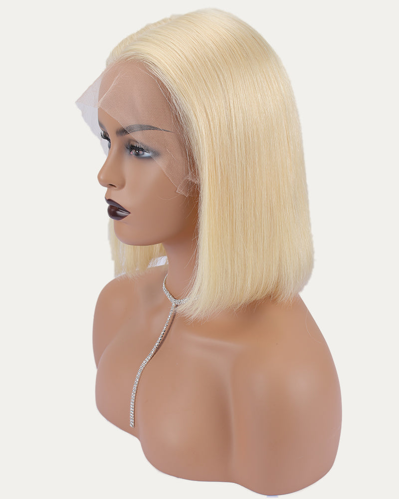 Nancy Blondish Short Lace frontal Bob Wig