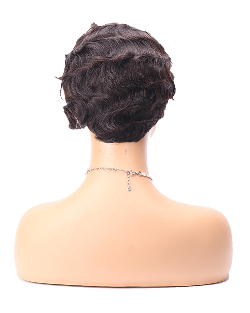 Nina short pixie cut classic wave wig