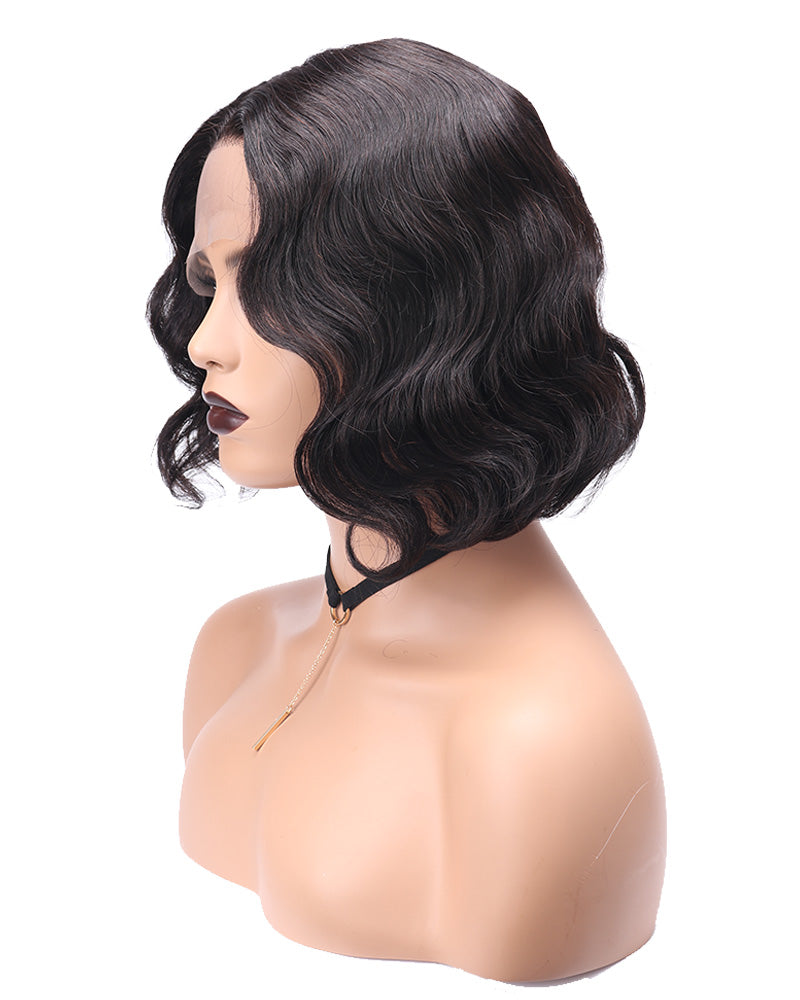 Onida Long wavy bob cut human hair wig