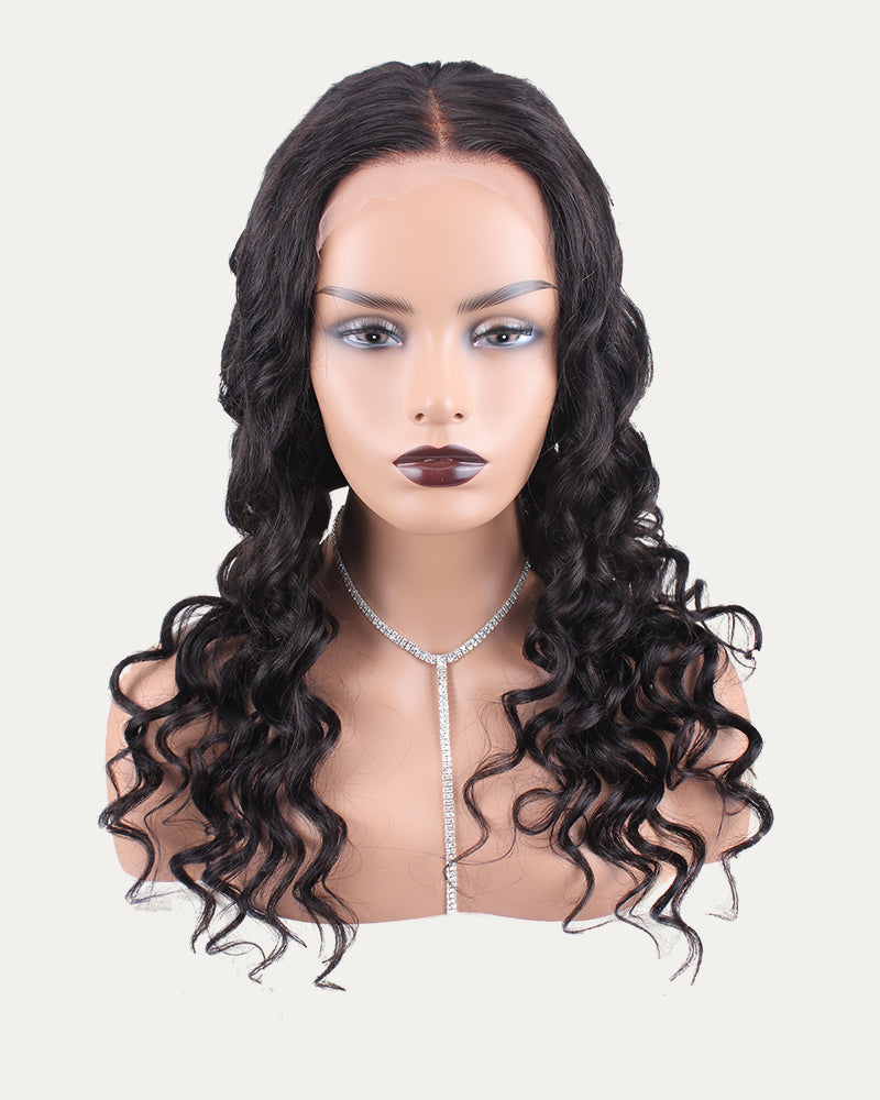 Sela  Natural Wave Lace Frontal Wig Brazilian Virgin Remy Hair