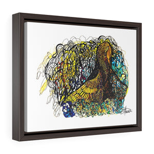 Don't Wake the Dragon - Horizontal Framed Premium Gallery Wrap Canvas
