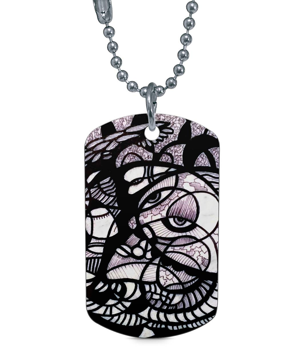 Flight of the Soul Dog Tag Dog Tag