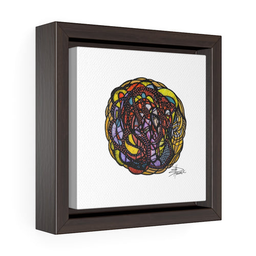 Circle of Light - Square Framed Premium Gallery Wrap Canvas