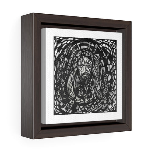 Jesus Christ Pose: Square Framed Premium Gallery Wrap Canvas