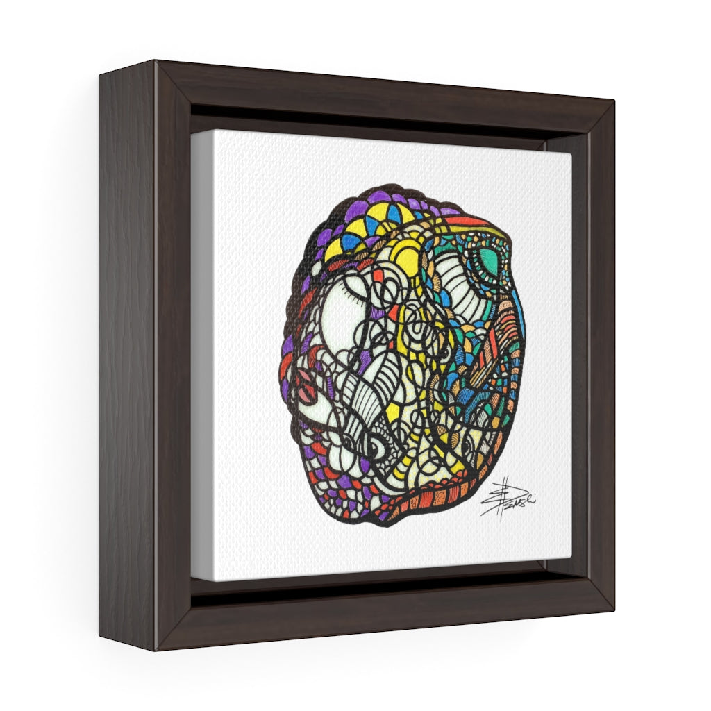 Tribe - Square Framed Premium Gallery Wrap Canvas