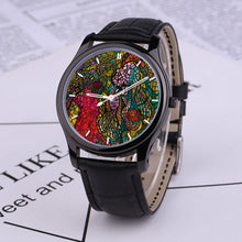 Load image into Gallery viewer, Roots of Eden: 30 Meters Waterproof Quartz Fashion Watch With Black Genuine Leather Band