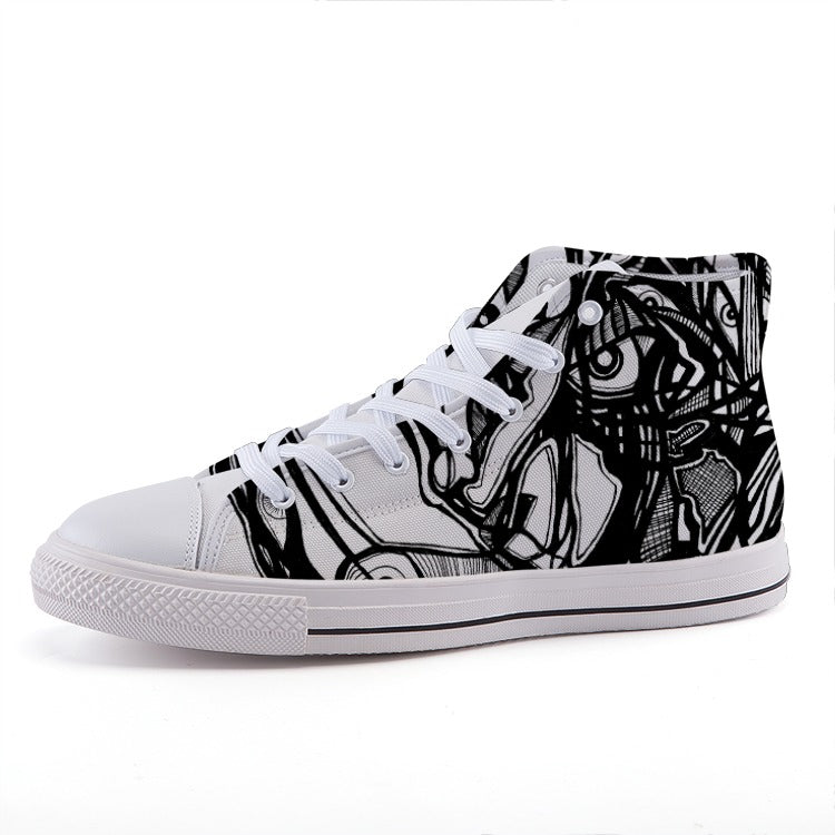 AlterE #3: High-top fashion canvas sneakers