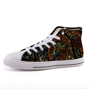 Warrior of Fire: High-top fashion canvas sneakers