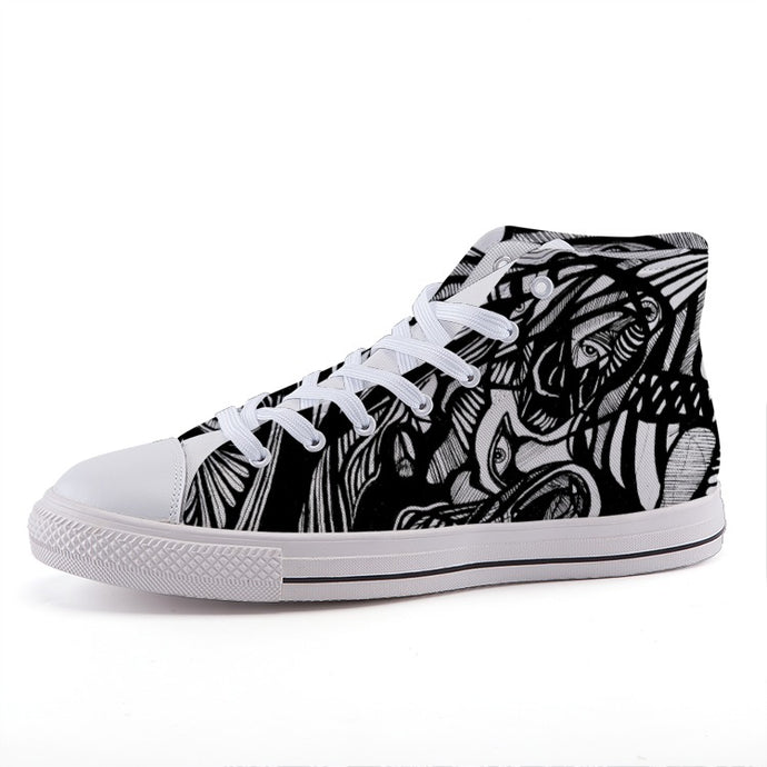 AlterE #4: High-top fashion canvas sneakers