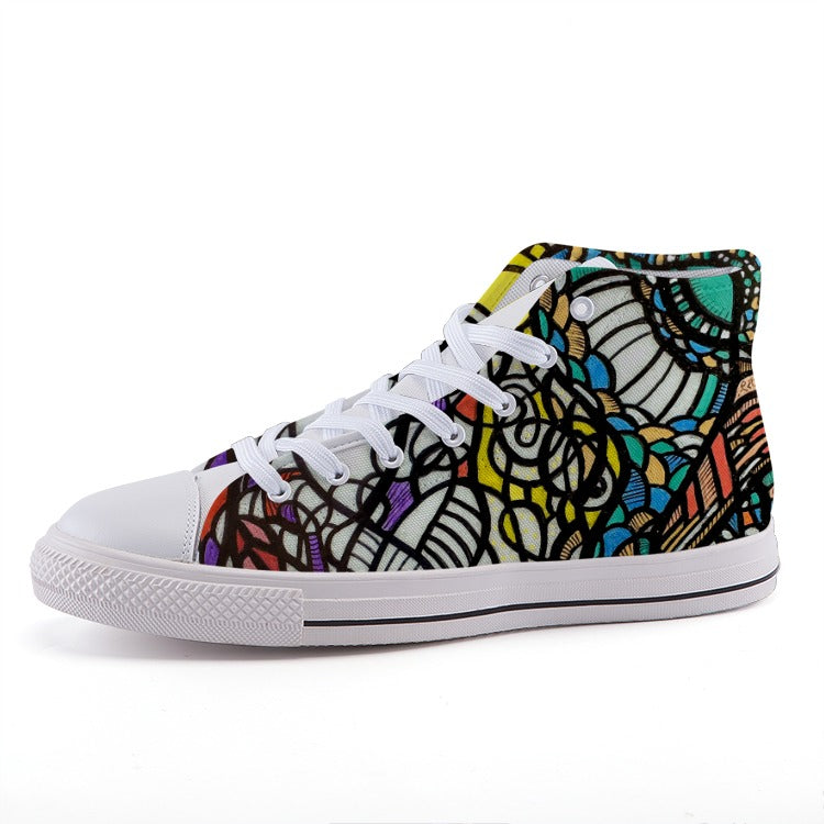 Tribe: High-top fashion canvas sneakers