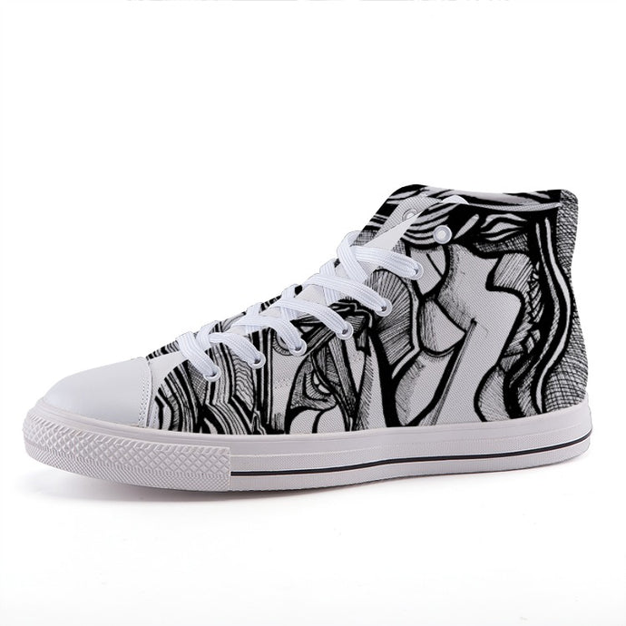 AlterE #2: High-top fashion canvas sneakers