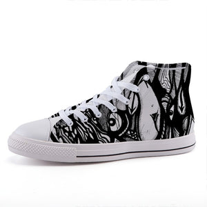 AlterE #1: High-top fashion canvas sneakers